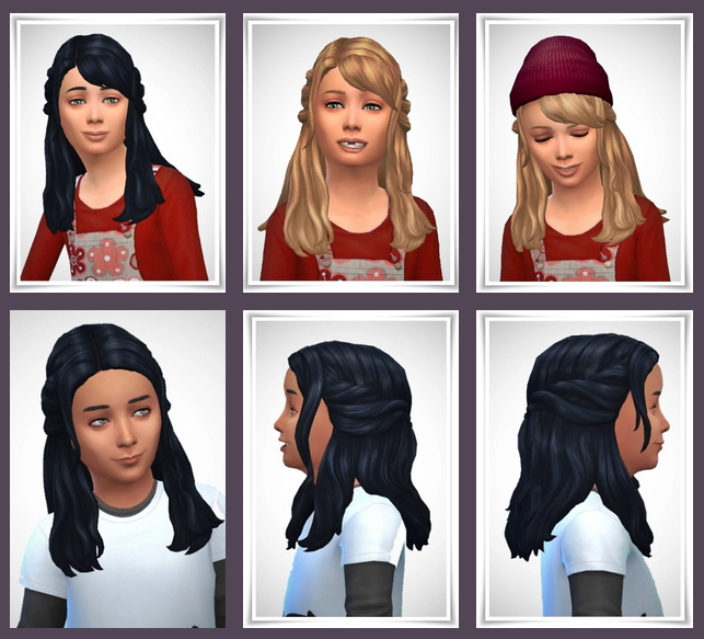 Girly Half Up Braids 2 Versions at Birksches Sims Blog image 348 Sims 4 Updates