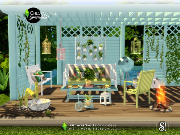Chlorophyll colorful outdoor set by SIMcredible at TSR image 3517 Sims 4 Updates