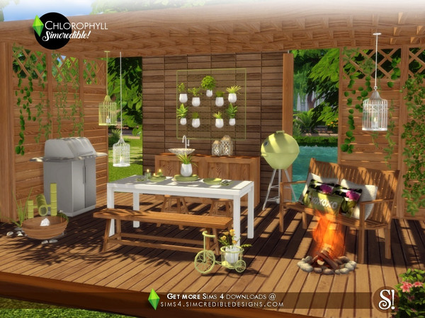 Chlorophyll Dining area by SIMcredible at TSR image 3518 Sims 4 Updates