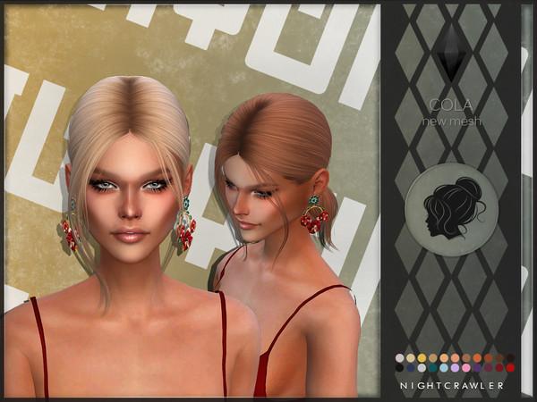 Sims 4 Cola hair by Nightcrawler at TSR
