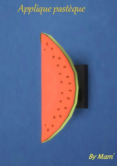Sims 4 Fruit lamps by Maman Gateau at Sims Artists