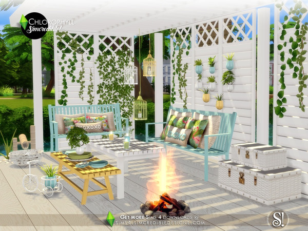 Chlorophyll colorful outdoor set by SIMcredible at TSR image 3615 Sims 4 Updates