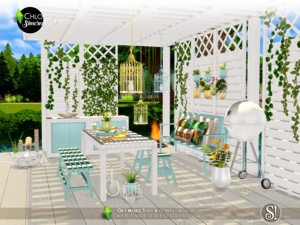 Chlorophyll Dining area by SIMcredible at TSR image 3616 Sims 4 Updates