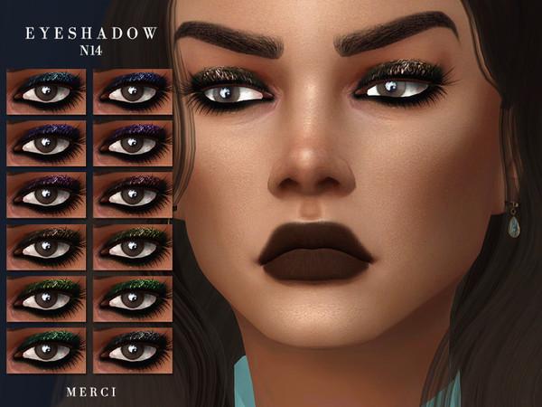 Sims 4 Eyeshadow N14 by Merci at TSR