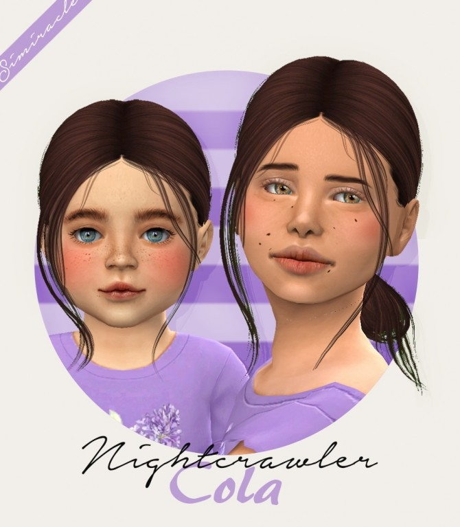 Sims 4 Nightcrawler Cola hair for kids and toddlers at Simiracle