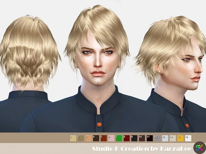 Hair SKC01 Nero at Studio K Creation image 365 670x502 Sims 4 Updates