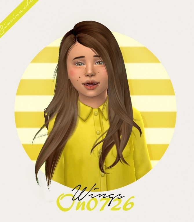 Sims 4 Wings ON0726 Hair Kids Version at Simiracle