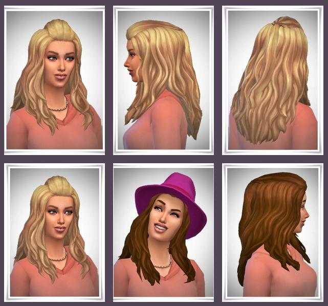 Sims 4 Alice Half Up Hair at Birksches Sims Blog