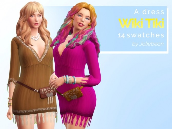 Wiki Tiki Dress & Surfer Top at Joliebean image 3672 670x503 Sims 4 Updates