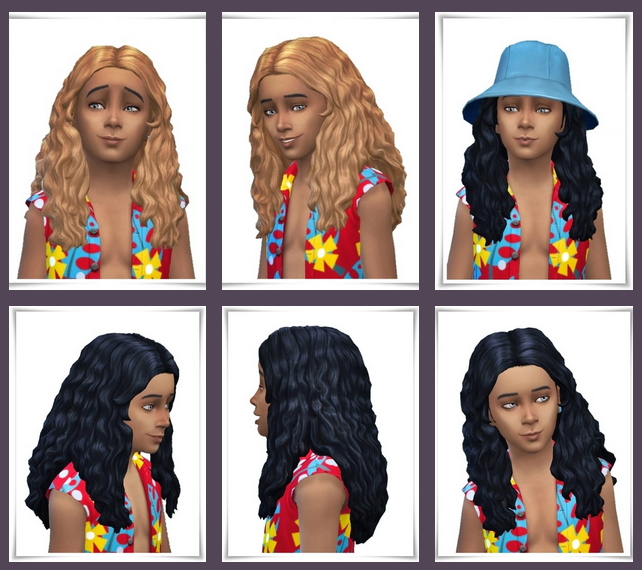 Sims 4 Long Curls for Kids at Birksches Sims Blog