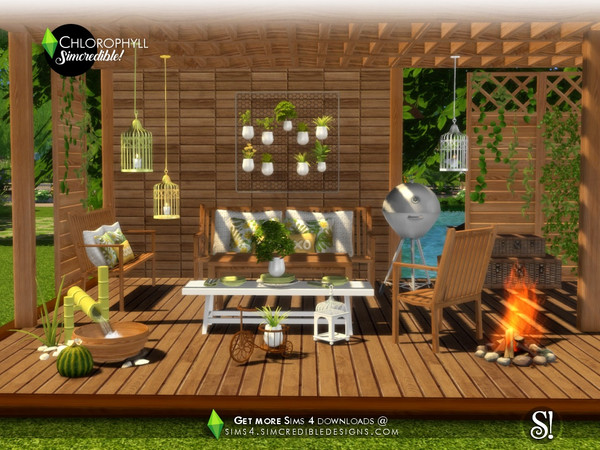 Chlorophyll colorful outdoor set by SIMcredible at TSR image 3712 Sims 4 Updates