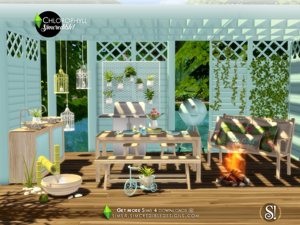 Chlorophyll Dining area by SIMcredible at TSR image 3713 Sims 4 Updates