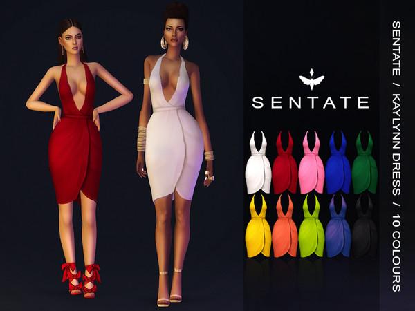 Sims 4 Kaylynn Dress 2019 Edition by Sentate at TSR