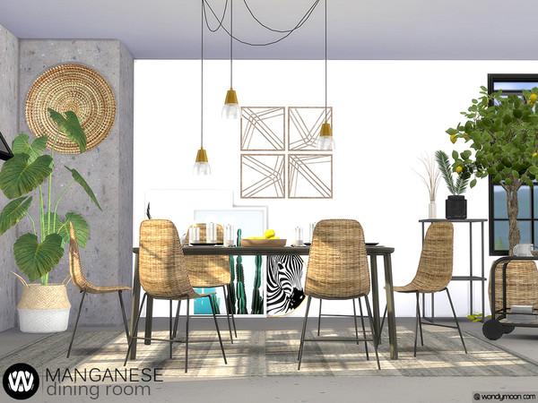 Manganese Dining Room by wondymoon at TSR image 3718 Sims 4 Updates