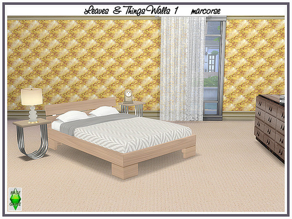 Leaves and Things Walls by marcorse at TSR image 374 Sims 4 Updates
