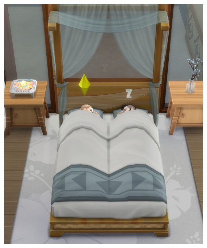 Sims 4 Island Living Can Do Canopy Bed Separated by Lierie at Mod The Sims