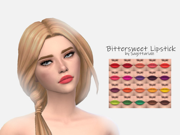 Sims 4 Bittersweet Lipstick by Sagittariah at TSR