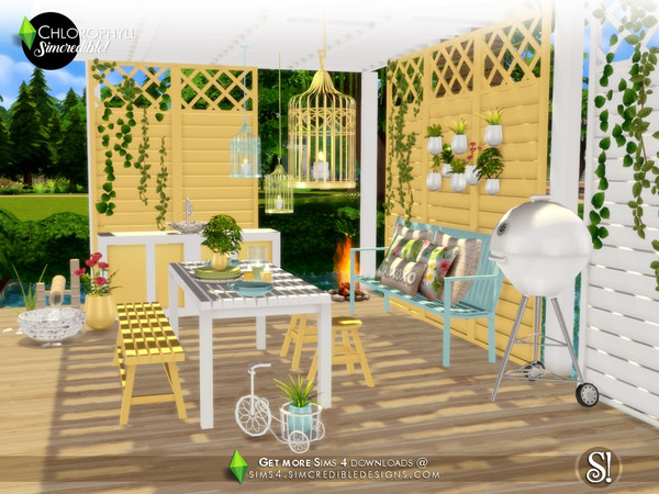 Chlorophyll Dining area by SIMcredible at TSR image 3810 Sims 4 Updates