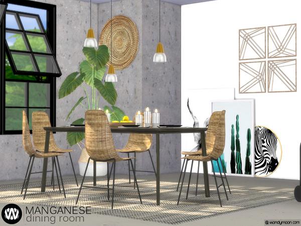 Manganese Dining Room by wondymoon at TSR image 3815 Sims 4 Updates