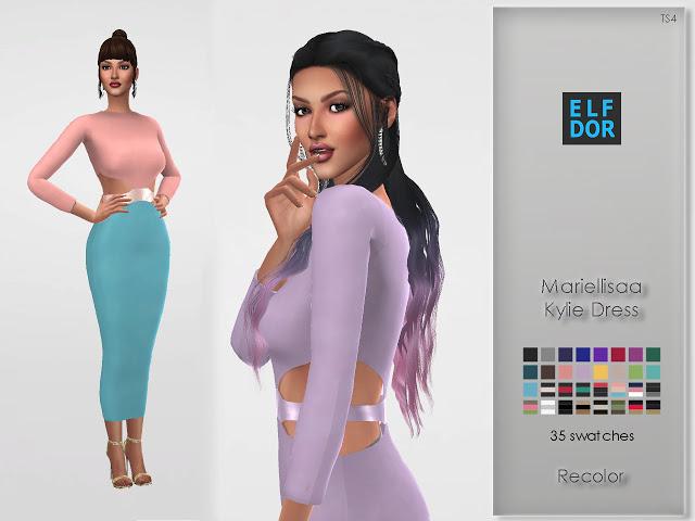 Mariellisaa Kylie Dress Recolor at Elfdor Sims image 3818 Sims 4 Updates