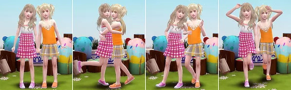 Sims 4 Twins pose (Child) at A luckyday