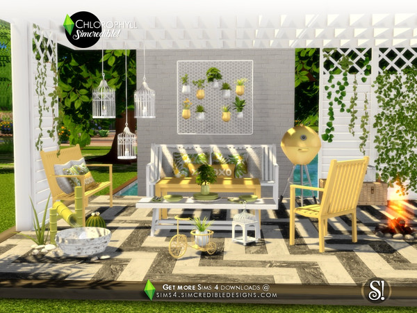 Chlorophyll colorful outdoor set by SIMcredible at TSR image 389 Sims 4 Updates