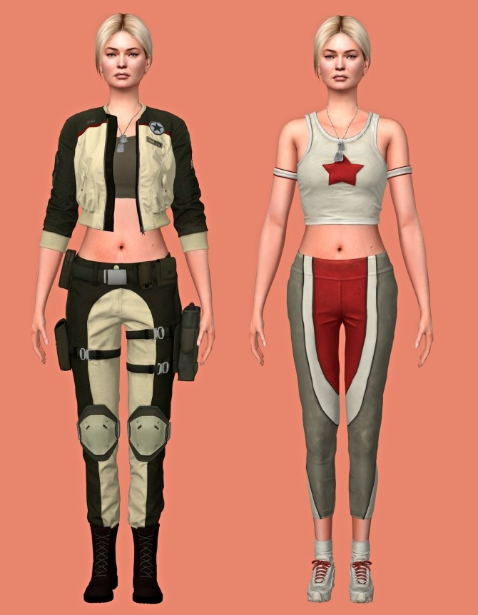 Mortal Combat 11 Sonya Blade Outfits & Accessories Set at Astya96 image 39110 670x862 Sims 4 Updates