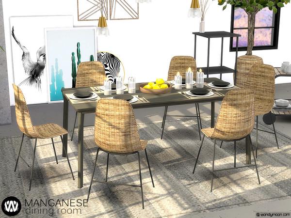 Manganese Dining Room by wondymoon at TSR image 3914 Sims 4 Updates