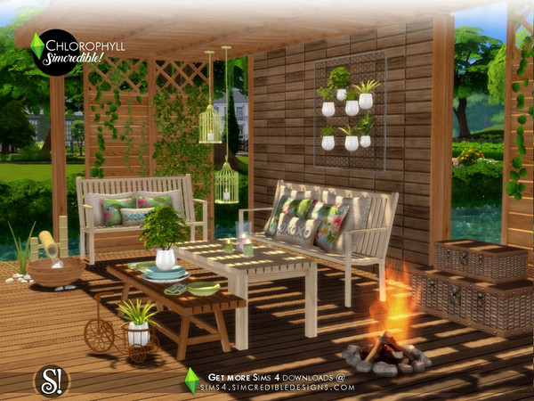 Chlorophyll colorful outdoor set by SIMcredible at TSR image 398 Sims 4 Updates