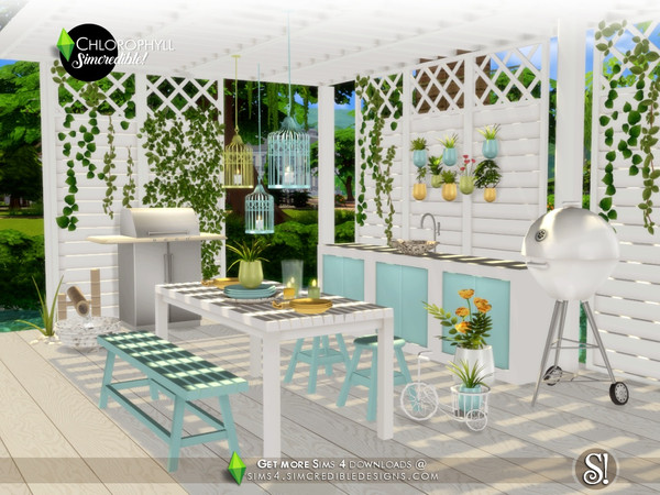 Chlorophyll Dining area by SIMcredible at TSR image 399 Sims 4 Updates
