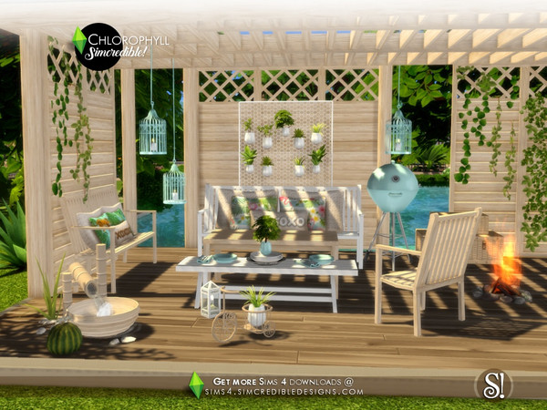 Chlorophyll colorful outdoor set by SIMcredible at TSR image 408 Sims 4 Updates
