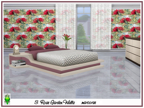Rose Garden Walls by marcorse at TSR image 4108 Sims 4 Updates