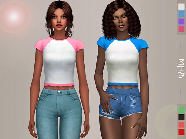 Sims 4 Summer Casual Tee by Margeh 75 at TSR