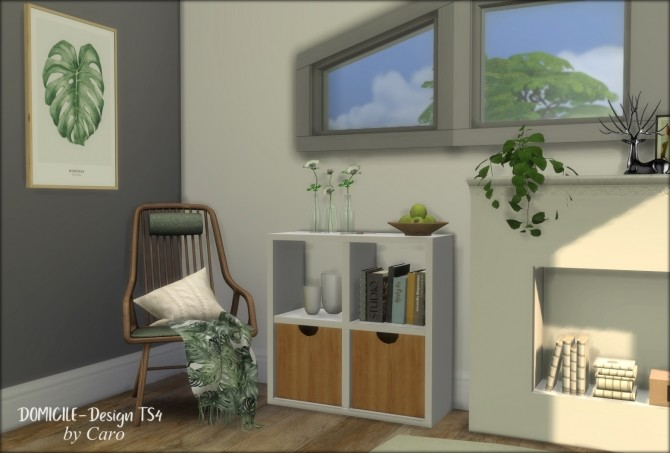 Sims 4 Pearl bedroom pillows, blanket & books at DOMICILE Design TS4