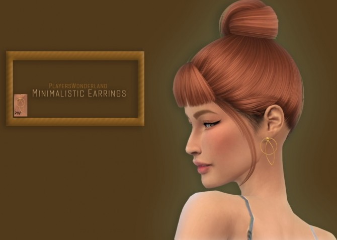 Minimalistic Earrings at PW's Creations image 4151 670x477 Sims 4 Updates