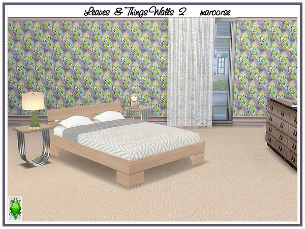 Leaves and Things Walls by marcorse at TSR image 416 Sims 4 Updates