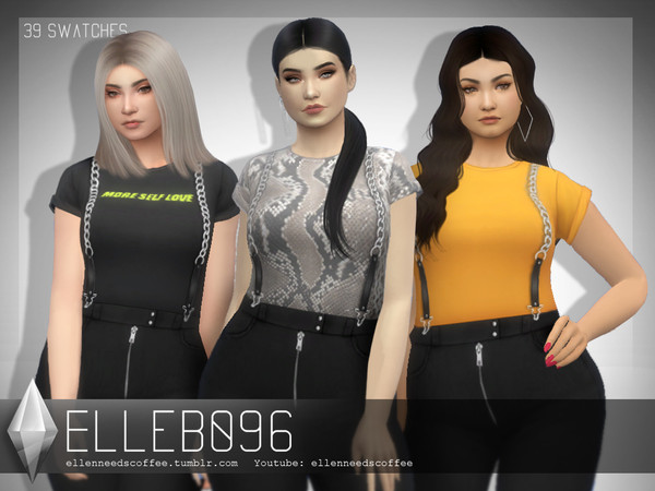 Sims 4 Leather and Chains Overalls by Elleb096 at TSR