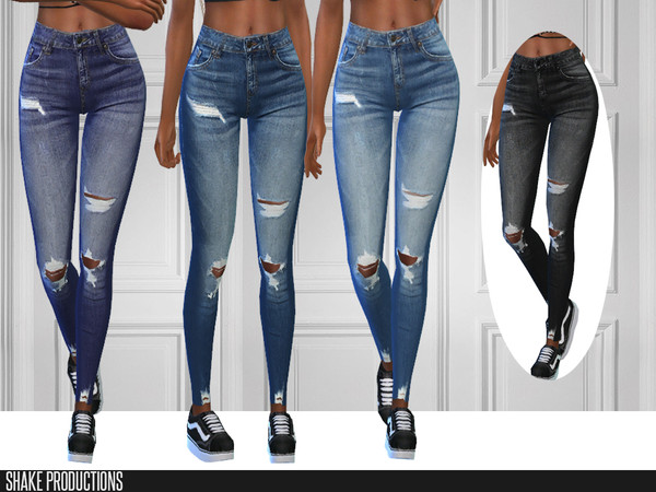 Sims 4 296 SET 4 jeans by ShakeProductions at TSR