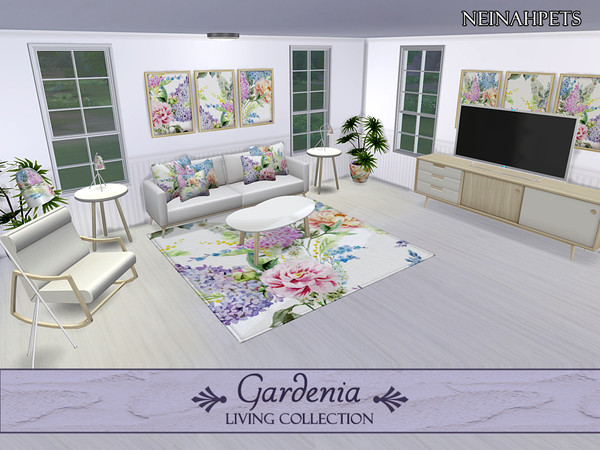 Gardenia Living Collection by neinahpets at TSR image 424 Sims 4 Updates