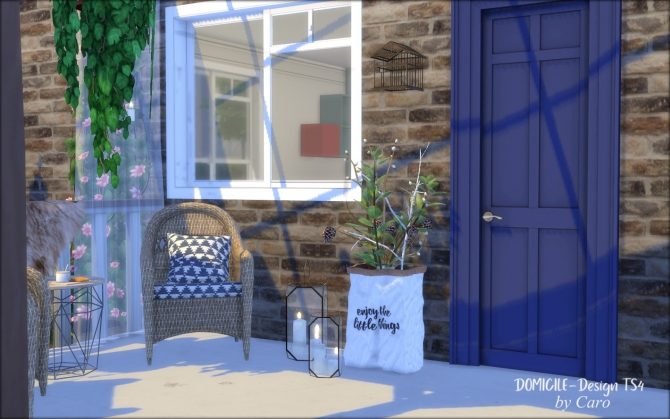 Henderson Porch Chair Amp Paper Bags By Caro At Domicile Design Ts4 187 Sims 4 Updates