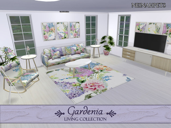 Gardenia Living Collection by neinahpets at TSR image 434 Sims 4 Updates
