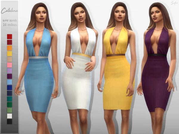 Sims 4 Catalina Dress by Sifix at TSR