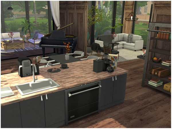 SUMMER BREEZE house by lotsbymanal at TSR image 440 Sims 4 Updates