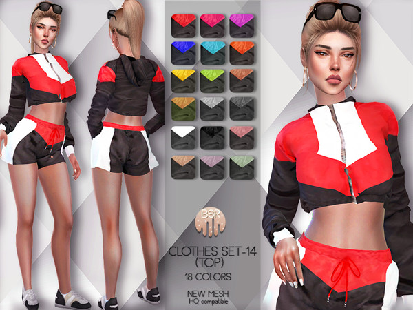 Sims 4 Clothes SET 14 TOP BD66 by busra tr at TSR