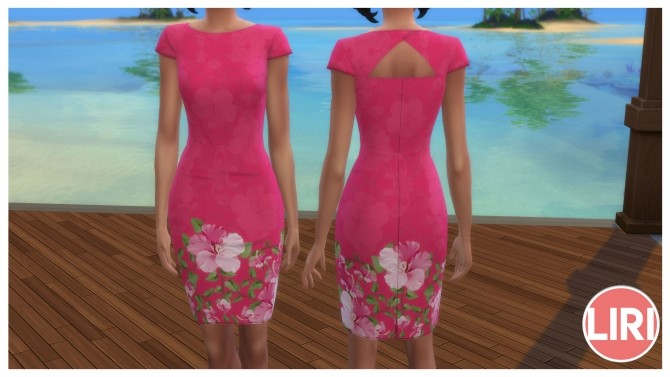 Floral Pencil Dress by Lierie at Mod The Sims image 455 670x377 Sims 4 Updates