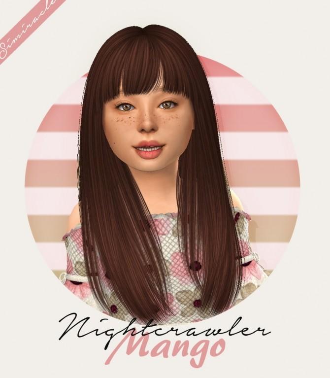 Sims 4 Nightcrawler Mango Hair Kids Version at Simiracle