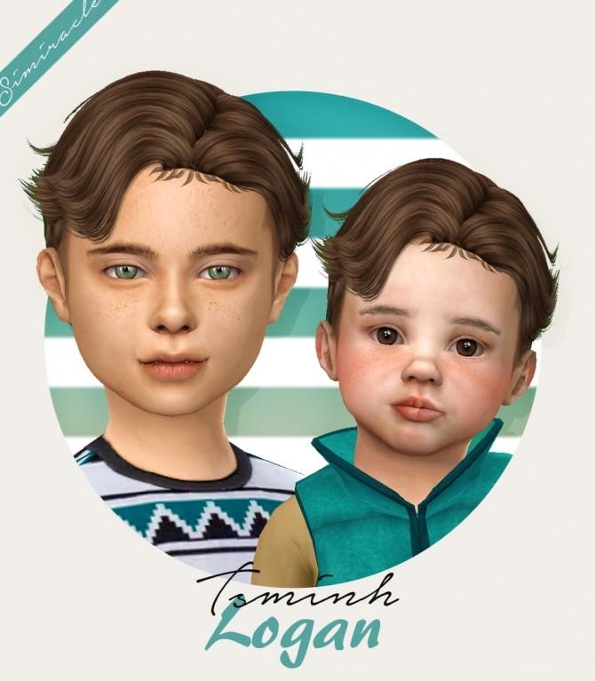 Sims 4 Tsminh Sims Logan hair for kids and toddlers at Simiracle