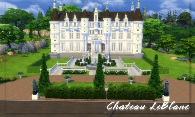 Sims 4 Chateau LeBlanc   French Castle by hellokittay at Mod The Sims