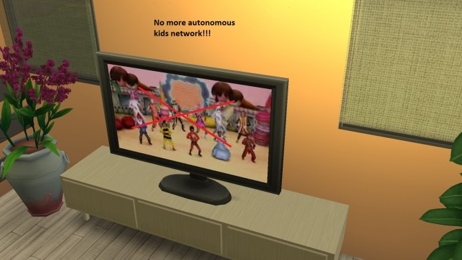 Sims 4 No More Kids TV by Anonymouse85 at Mod The Sims