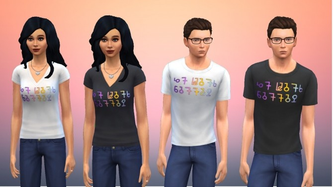 Simlish It Gets Better T Shirt Recolour by GalaxyVic at Mod The Sims image 477 670x377 Sims 4 Updates